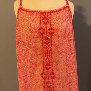 Tops - Patterned and Embroidered Tank Top